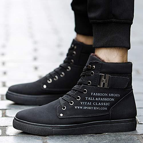 Chaudes Boots Classiques Sneakers De Bottine Homme Courtes Sport Bottes Chaussures Lacets Mode Cher Pas 2 Hautes Noir Hommes Aimee7 6RY0nzn