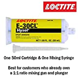 Loctite EA E-30CL (29329) 30-Minute Low Viscosity Crystal Clear Epoxy 50ml/1.7oz Cartridge