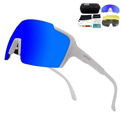 HTTOAR Gafas De Sol Deportivas,Polarizadas para Ciclismo Gafas,MTB Bicicleta Montaña Gafas, Ski Conducción Golf Salir A Correr Ciclismo Acampada Gafas