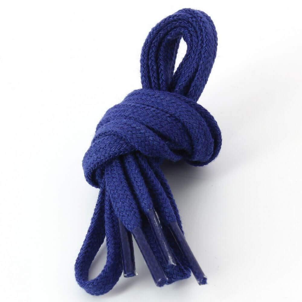 Les lacets Français Cordones planos de algodón encerado color azul ...