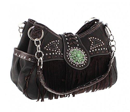 Fashion Boots - Bolso cruzados de Material Sintético para mujer multicolor marrón One size