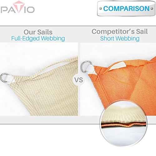 Patio Paradise Sun Shade Sail Canopy   Permeable UV Block Fabric Durable  Patio Outdoor   Customized Available