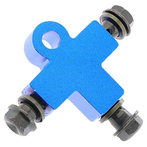 SM SunniMix Hydraulic Brake oil Hose Three-way Pipe Connector/Tee Coupling Tubing Bracket Adapter - Blue: