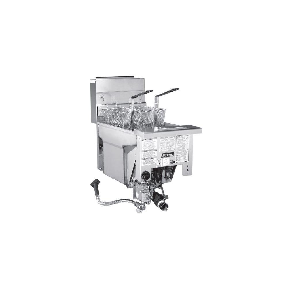 Amazon.com: pitco sg18di freidora Drop-in Gas 70 – 90 libras ...