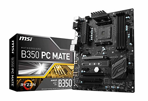 MSI Gaming AMD Ryzen B350 DDR4 VR Ready HDMI USB 3 ATX Motherboard (B350 PC MATE) by MSI