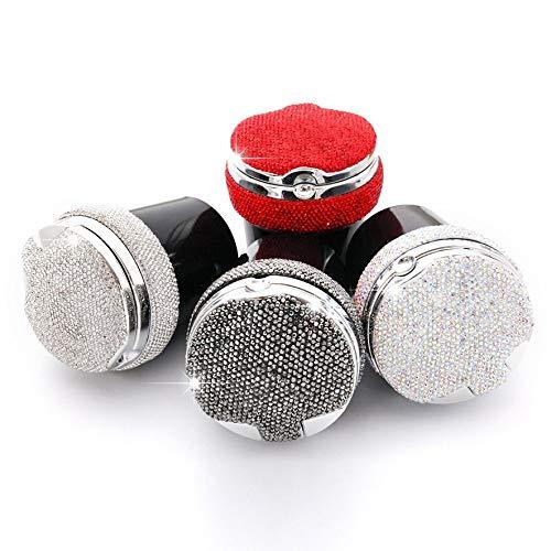 8Eninine Auto Aschenbecher Kreative Auto Aschenbecher Mit Led-Lampe Diamant Auto Aschenbecher Rot