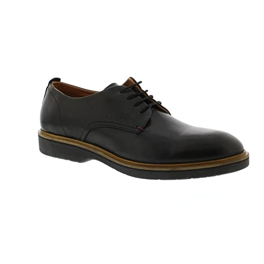 J2285ACOB 1A - Black Leather Mens Shoes