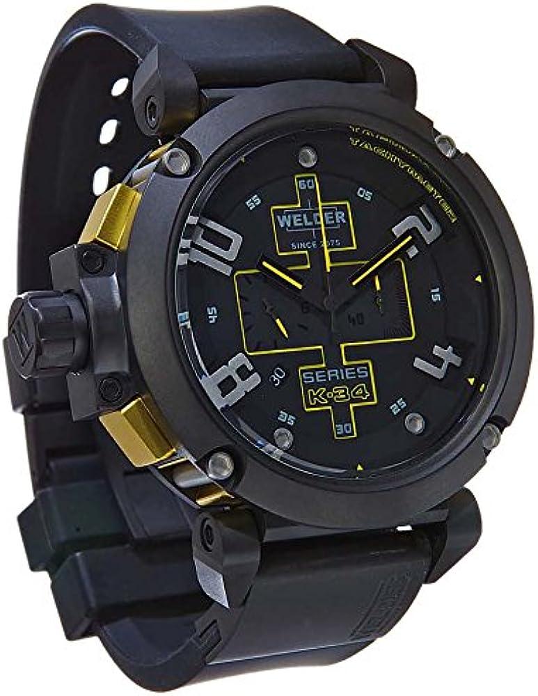 Welder K34-2001 - Reloj para Hombres, Correa de Goma Color Negro: Amazon.es: Relojes