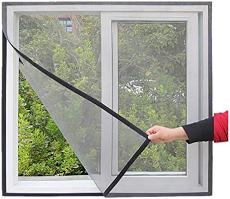 HTDG Mosquitera Ventana Ajustable,Exterior,Adhesiva,Mosquiteras para Ventanas A Medida,Aluminio,Sin Perforaciones,Cortina Mosquitera Ventana,Protección contra Insectos,100x110cm(39x43inch): Amazon.es: Hogar