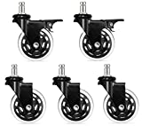 old antique chairs - Replacement Caster Wheels - With Unique Brake System Set For Office Chair – Universal Heavy Duty Polyurethane Rollerblade Style – Protects All Floors Without Plastic Mat (set of 5)