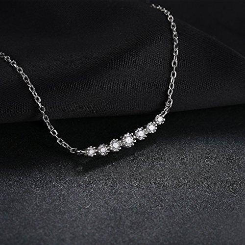 JewelryPalace Magnifique Bague Boucles d'Oreilles Collier 45cm Bracelet Parures Fleur Mariage Fiançailles Alliance en Argent Sterling 925 en Zircon Cubique Synthèse CZ