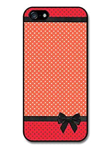 New Fashion Style Polka Dots and Bows Cool Red Case For Iphone 5/5S Cover