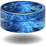 MightySkins Skin for Amazon Echo Dot - Blue Mystic Flames | Protective, Durable, and Unique Vinyl Decal wrap Cover | Easy to Apply, Remove, and Change Styles | Made in The USA