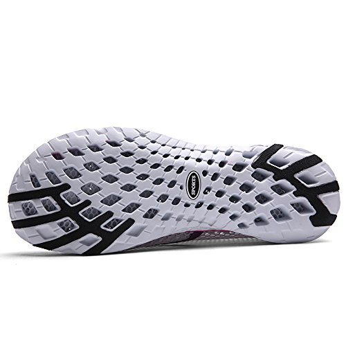 EnllerviiD Women Mesh Slip On Quick Dry Water Shoes Casual Seaside Beach Shoes 8859-w Grey SEDLvP2aeA