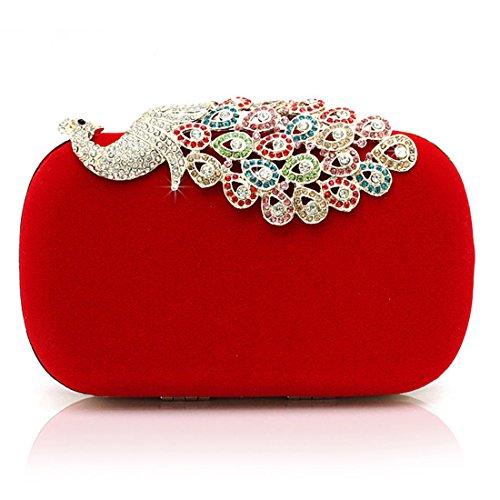 red Clutch pour Evening femme Pochette SSMK 68PqCwSZxW