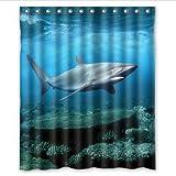 Astephanie Various 60X72inch Kidu0027s Shower Curtain. By Shark Shower Curtain