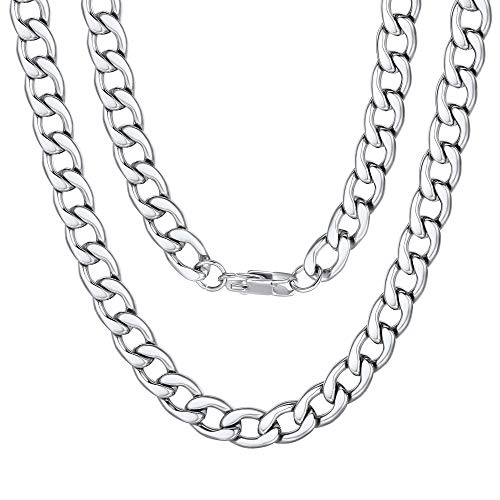 Thick Cuban Link Chain Necklace 9mm 20