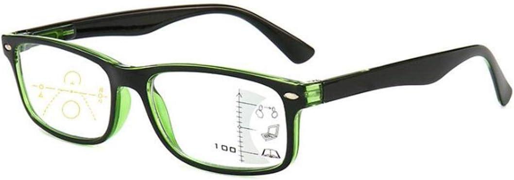 Gafas de lectura multifocales progresivas Gafas de lectura de lectura anti-azules Gafas inteligentes HD para hombres y mujeres Zoom presbicia lejos Adecuado para todas las formas de rostro de hombres