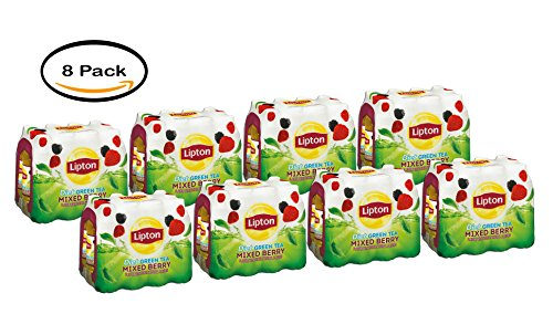 PACK OF 8 - Lipton Diet Green Tea, Mixed Berry, 16.9 Fl Oz, 12 Ct
