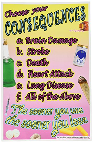 Youth Change Workshops, Intense Drug & Alcohol Prevention Poster for Classroom (Poster #610)