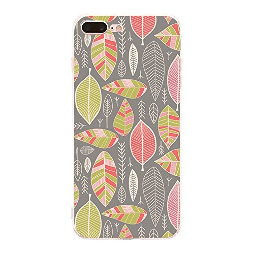 Price comparison product image Riyer iPhone 7 Plus Case Soft TPU Clear Slim Geometric Patterns Shock Absorbing Back Cover (iPhone 7 Plus, Color 6)