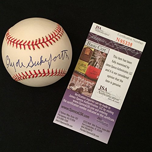 Clyde Sukeforth Signed Jackie Robinson 50Th Ann Nlb Natio...