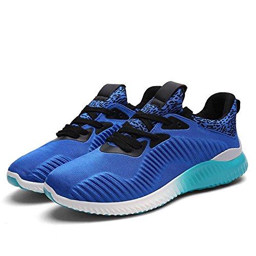 Tanken Ramar Mens Mode Sneaker Lätt Sport Promenader Tränare Blå