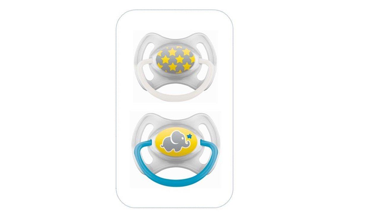 MAM chupete anillo de silicona, a partir de 6 meses, 2 uds, Colores surtidos (multicolor)