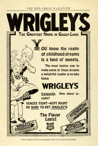 Gum Hoods (1919 Ad Goody-Land Wrigleys Chewing Gum Childhood Dreams Sweets Spearmint Fruit - Original Print Ad)
