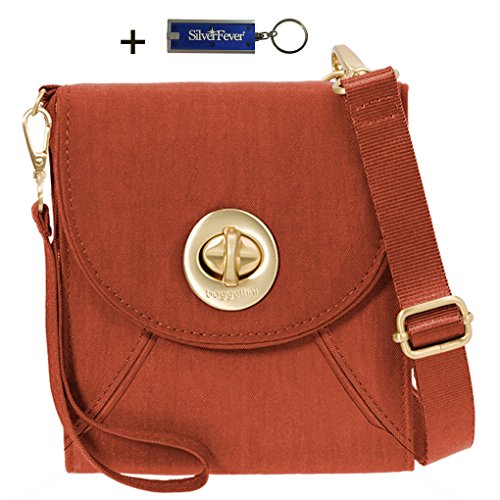 Bundle Key Handbag Athens Crossbody Baggallini Chain Travel RFID Light w Wallet Adobe Purse 4FO48Yq