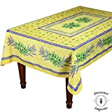Matisse Yellow 59x88'' Rectangular French Provencal Tablecloth