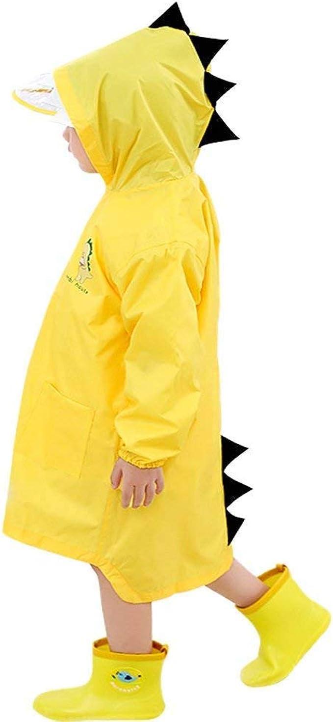 Antipioggia Bambino Giacca Antipioggia per Bambini Leggera Impermeabile con Cappuccio per Bambini da 1 a 8 Anni