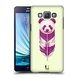 Head Case Designs Panda Feather Animals Protective Snap-on Hard Back Case Cover for Samsung Galaxy A5 Duos 3G A500H LTE A5000 LTE A500F by icecream design