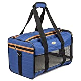 Peterol Airline Approved Soft Sided Under Seat Pet Travel Carrier For Small Cats & Dogs 17