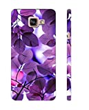 Tecozo Designer Printed Back Cover/Hard Case for Samsung Galaxy A7 2016 (Colorful Leaves Design/Colourful/Pattern) - Purple - D142