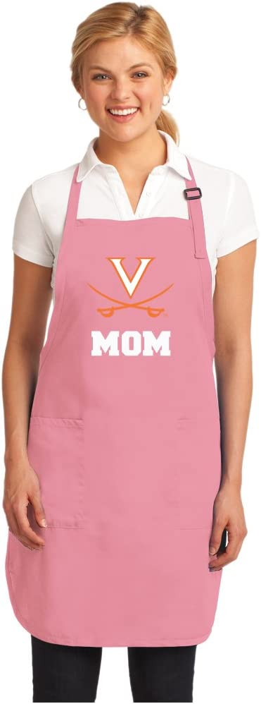 Broad Bay Pink UVA Mom Apron Deluxe University of Virginia Mom Aprons Made in The USA