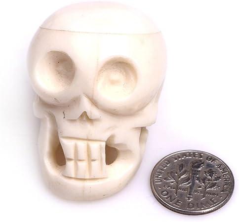 31x41mm Ivory White White Large Carved Bone Skull Beads For Jewellery Making Decoration Sphere Bulk 3 Pcs Amazon Co Uk Kitchen Home