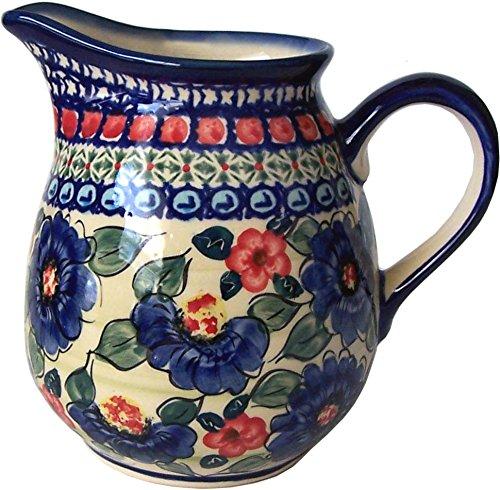 (Polish Pottery Creamer Pitcher Jug 8.5 cups Unikat Eva's Collection