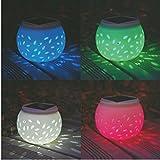 LEDMOMO LED Solar Ceramic Table Lights Garden