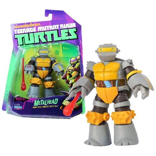 (Playmates Year 2012 Nickelodeon Teenage Mutant Ninja Turtles 4 Inch Tall Action Figure - Sewer Built Robotic Turtle Ally METALHEAD with Missile Launching Hand and 1 Missile)