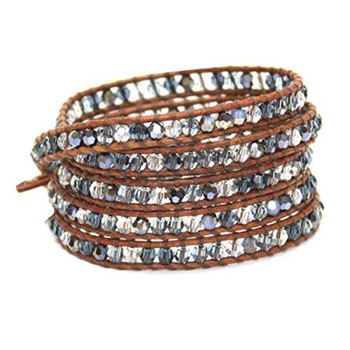Chan Luu Swarovski Indigo Blue Crystal Mix Wrap Bracelet