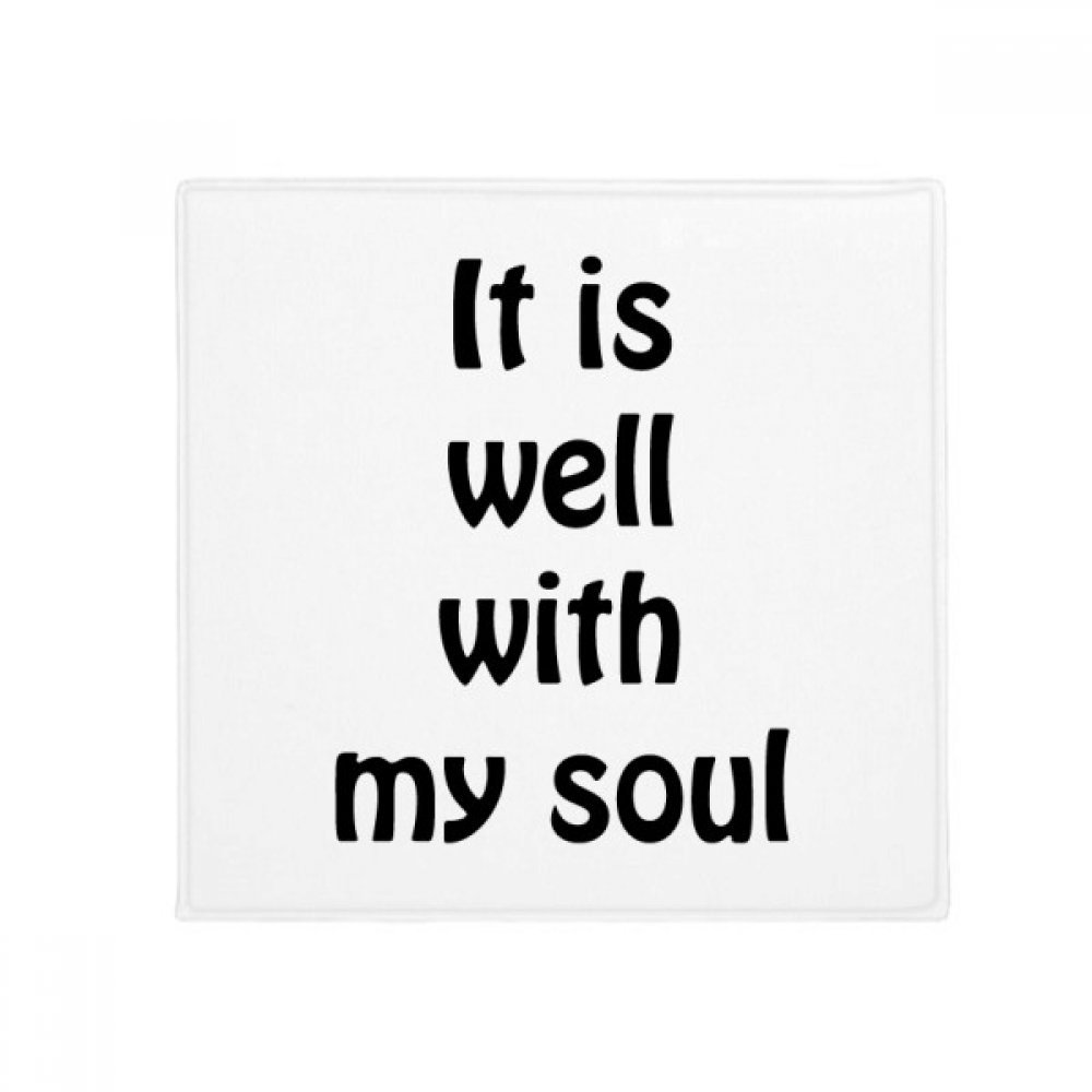 DIYthinker It Is Well With My Soul Christian Quotes Anti-slip Floor Pet Mat Square Bathroom Living Room Kitchen Door 60/50cm Gift