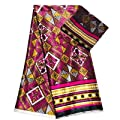 Chiffon Fabric | Factory Direct Sell African Wax Prints Fabric Silk Satin Chiffon Fabric 4+2Yards Hot African Ankara Fabric Prints Audel Fabric | by ATUSY