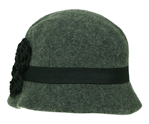 Grey Women's West Hat Brim Nine Knit Micro Rosette R7xn0Fx