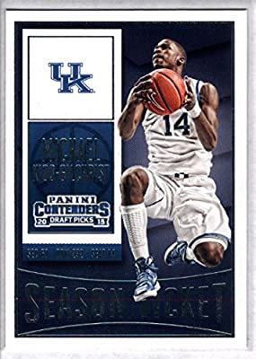 2015-16 Contenders Draft Picks Season Ticket Basketball #71 Michael Kidd-Gilchrist Kentucky Wildcats Official NCAA Trading Card made by Panini