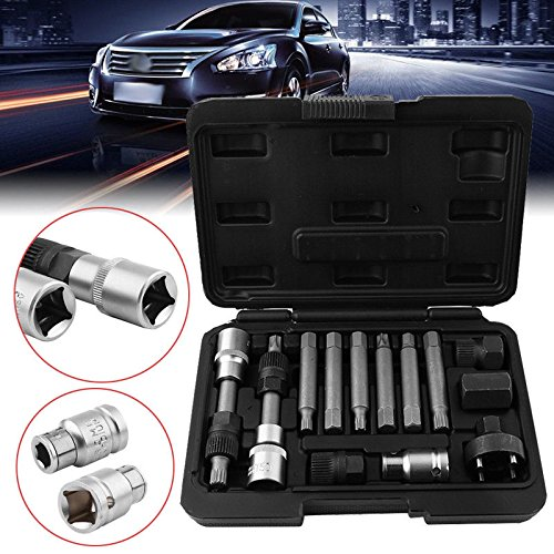 13-Piece Alternator Changing Set Alternator Pulley Locking Tool: