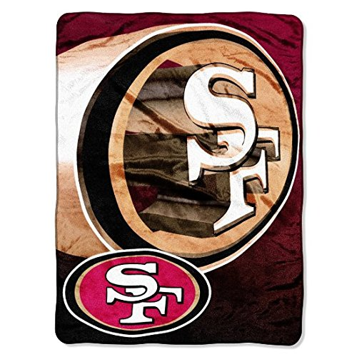 The Northwest Company Officially Licensed NFL San Francisco 49ers Bevel Micro Raschel Throw Blanket, 60