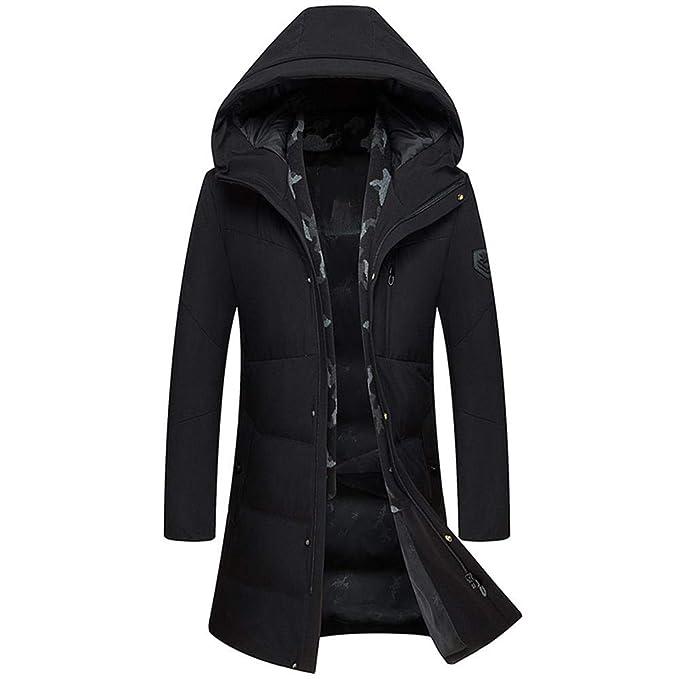 NIEYA Winter Duck Down Jacket Abrigo con Capucha Chaquetas Abrigadas Ropa para Hombre: Amazon.es: Ropa y accesorios