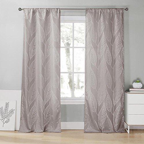 Duck River Textiles LERSG=12/10897 2 Piece Leah Pole Top Pair Panel, 39x96, Steel Grey