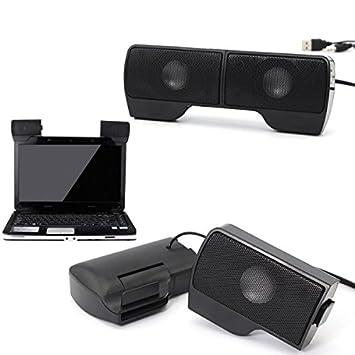 Altavoz USB Mini para pc portátil con volumen ajustable: Amazon.es: Electrónica